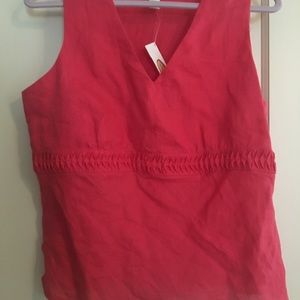 Talbots Sleeveless v-neck linen top 14